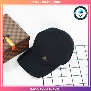 [HÀNG HIỆU] Mũ lưỡi trai đen Logo kim loại / non luoi trai den / nón kết / mu ket
