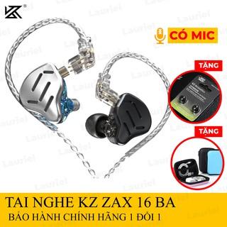 Tai nghe KZ ZAX 7BA+1DD 16 Drivers âm thiên sáng có micro