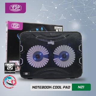 [ Siêu_Sale] Đế tản nhiệt laptop Cooler chính hãng 2 quạt to 14cm