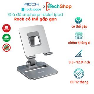 Giá đỡ điện thoại, máy tính bảng Rock Space Có Thể Gập Lại Điện Thoại Cho iPad 7.9 9.7 10.5 11 12.9 Inch Samsung Xiaomi thumbnail