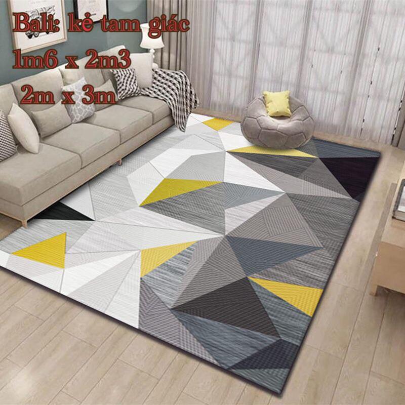 [Thảm bali]Thảm lì bali trang trí phòng khách 1m6x2m3,chát chọn mẫu,lá trắng<br>