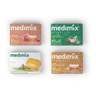 Combo Xà phòng Medimix 18 Loại Thảo Dược - Đàn Hương - Kumkumadi Nghệ Tây - Cỏ Hương Bài 125g bánh-0