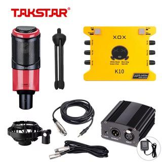 [Chính hãng] Combo thu âm, livestream chuyên nghiệp Mic Takstar PC-k320, Soundcard XOX-K10 và đầy đủ phụ kiện