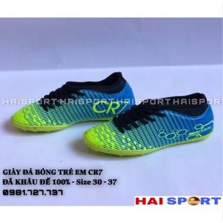 Giày đá bóng sân cỏ nhân tạo trẻ em CR7 -Tặng tất -Khâu đế 100% -Giày đá bóng trẻ em CR7 thumbnail