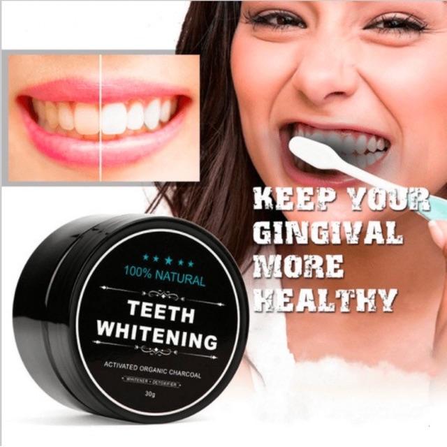 Bột tẩy trắng răng than tre whitening 30g