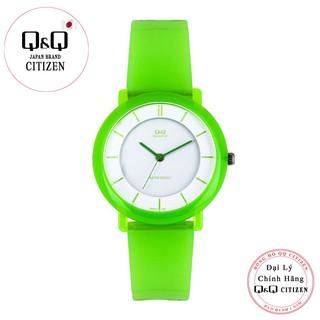 Đồng hồ thời trang nữ Q&Q Citizen VQ94J013Y dây nhựa thương hiệu Nhật Bản thumbnail