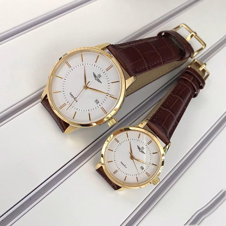 Đồng hồ Đôi SRWATCH SG3007.4602CV và SL3007.4602CV mặt kính Sapphire chống trầy,chốn