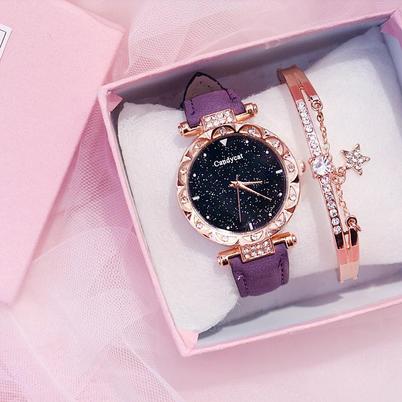 Đồng hồ nam nữ Candycat dây da DH20 thời trang thông minh