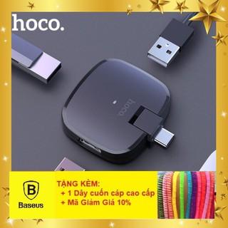 Hub chia ổ USB TYPE C ra 3 USB chính hãng Hoco HB11 - Bảo hành 12 tháng