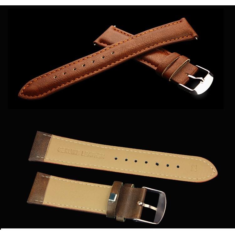 Đồng hồ nam Yazole 332 dây da thời trang cực chất (Vỏ đen)