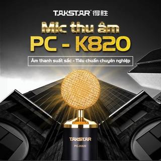 【Chính hãng】Mic thu âm chuyên nghiệp cao cấp Takstar PC-K820 hát karaoke, livestream, bán hàng