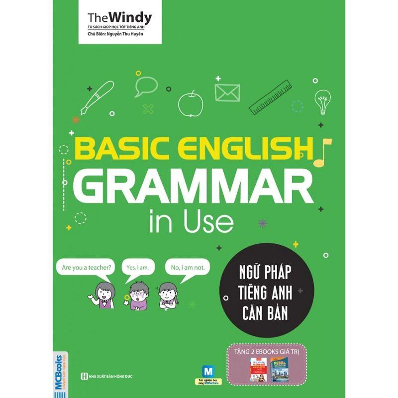Sách - Basic English Grammar in Use - Ngữ pháp tiếng Anh căn bản (Bìa xanh) Tặng Video Hách Não