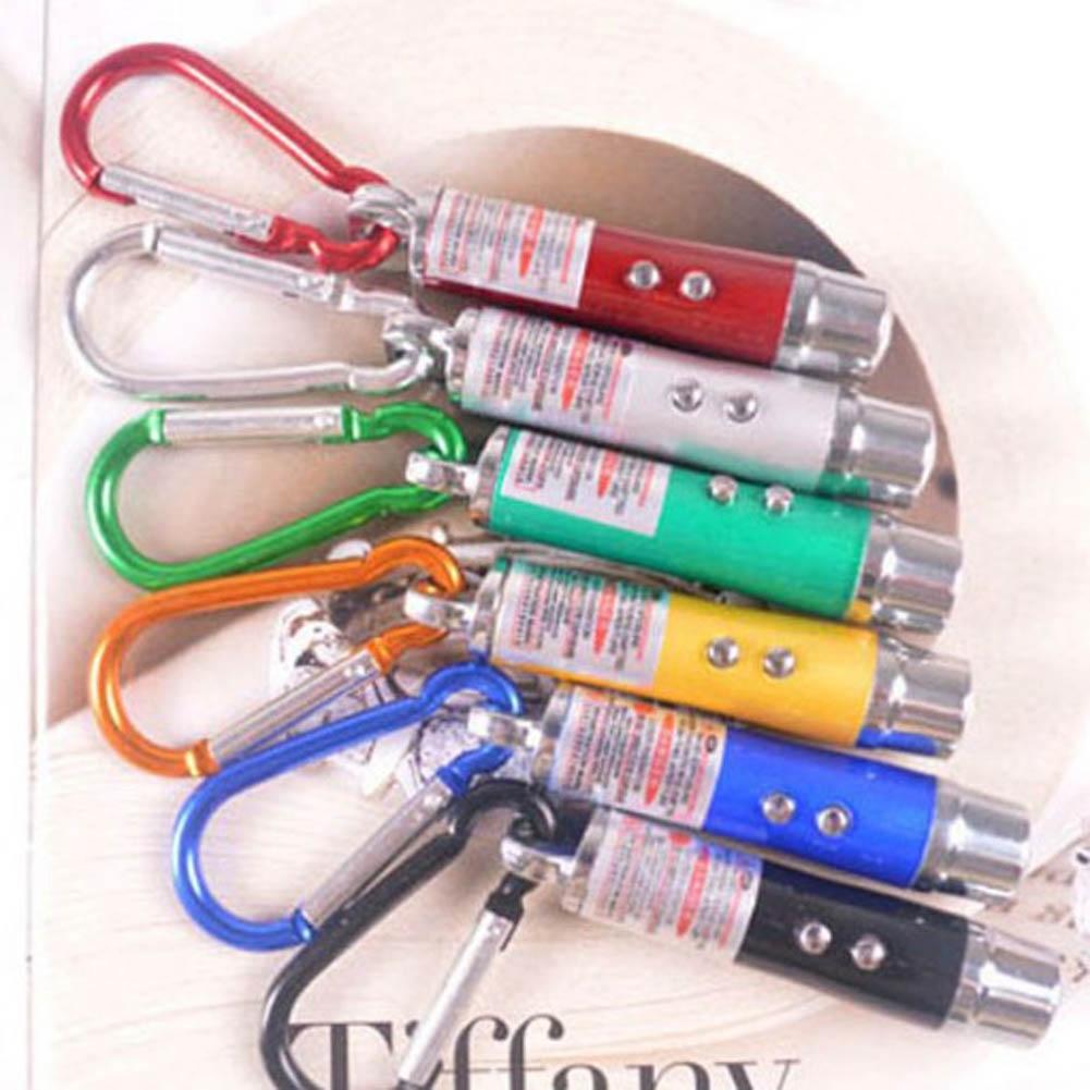 Móc Khóa Đèn Pin Laser Mini 3 Chế Độ Tiện Dụng - Đèn pin