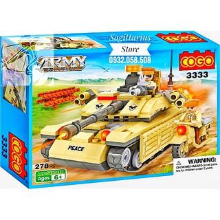 LEGO Lắp Ráp Xe Tăng Quân Sự – 3333 ( 278 Miếng )