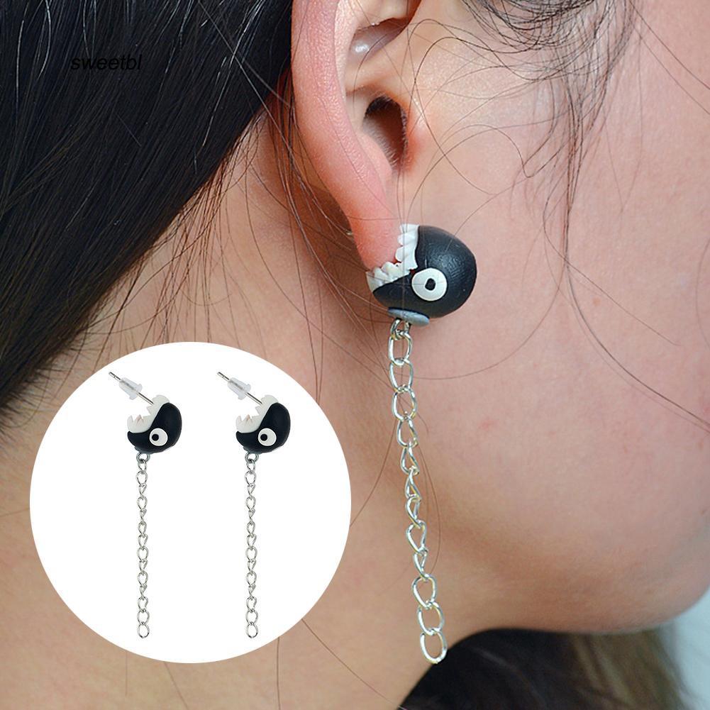 SWTB_Women Cute Fox Dinosaur Chomper Animal Handmade Ear Stud Earrings Jewelry Gift