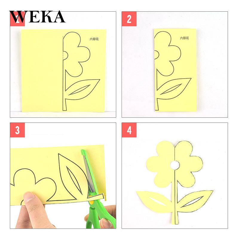 Baby Colorful Easy Paper Cutting Craft Kit Scissors Kids Handcraft Exquisite