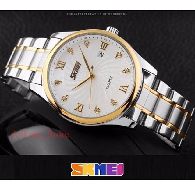 [ Siêu Đẹp ] Đồng hồ nam SKMEI 9101 chống nước siêu bền dây thép không gỉ cao cấp chính hãng
