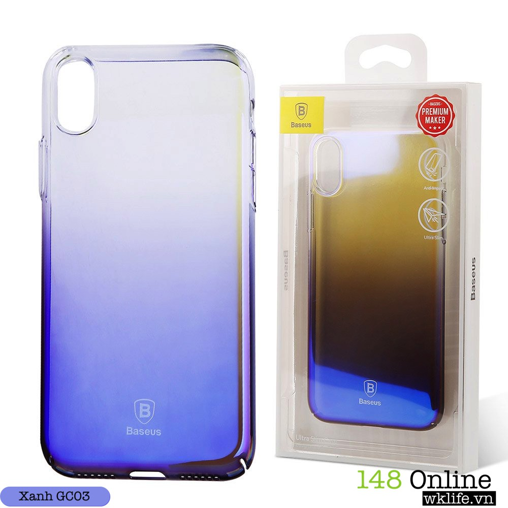 Ốp Iphone X Baseus Glaze Chính Hãng Đổi Màu Theo Góc Nhìn