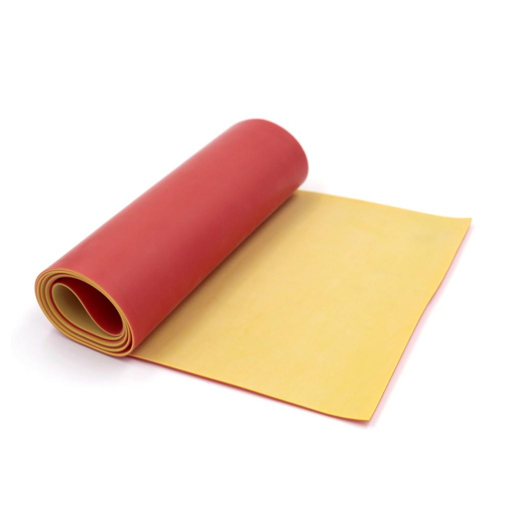 (Dankung - Size tự chọn) Cuộn 1m thun Dankung 2 lớp size tự chọn (Màu Đỏ Vàng)