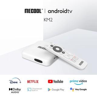 Android Box Mecool KM2, CPU S905X2-B, DDR4 2GB, eMMC 8GB, Android TV 10 chính chủ Google, remote voice theo box