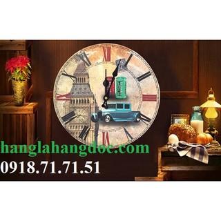 Đồng hồ treo tường phong cách cổ điển êm đềm (vintage clock)