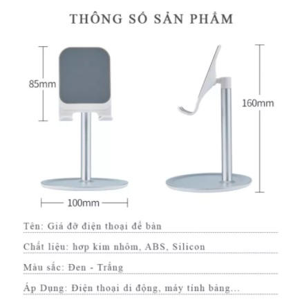 Kệ Nhôm Để Điện Thoại Smartphone, iPad Và Máy Tính Bảng Sang Trọng