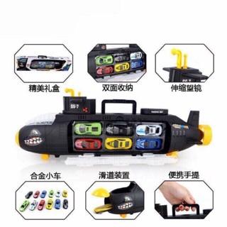 Combo sỉ 3-4 bộ đồ chơi tàu ngầm kèm 6 ô tô siêu hót