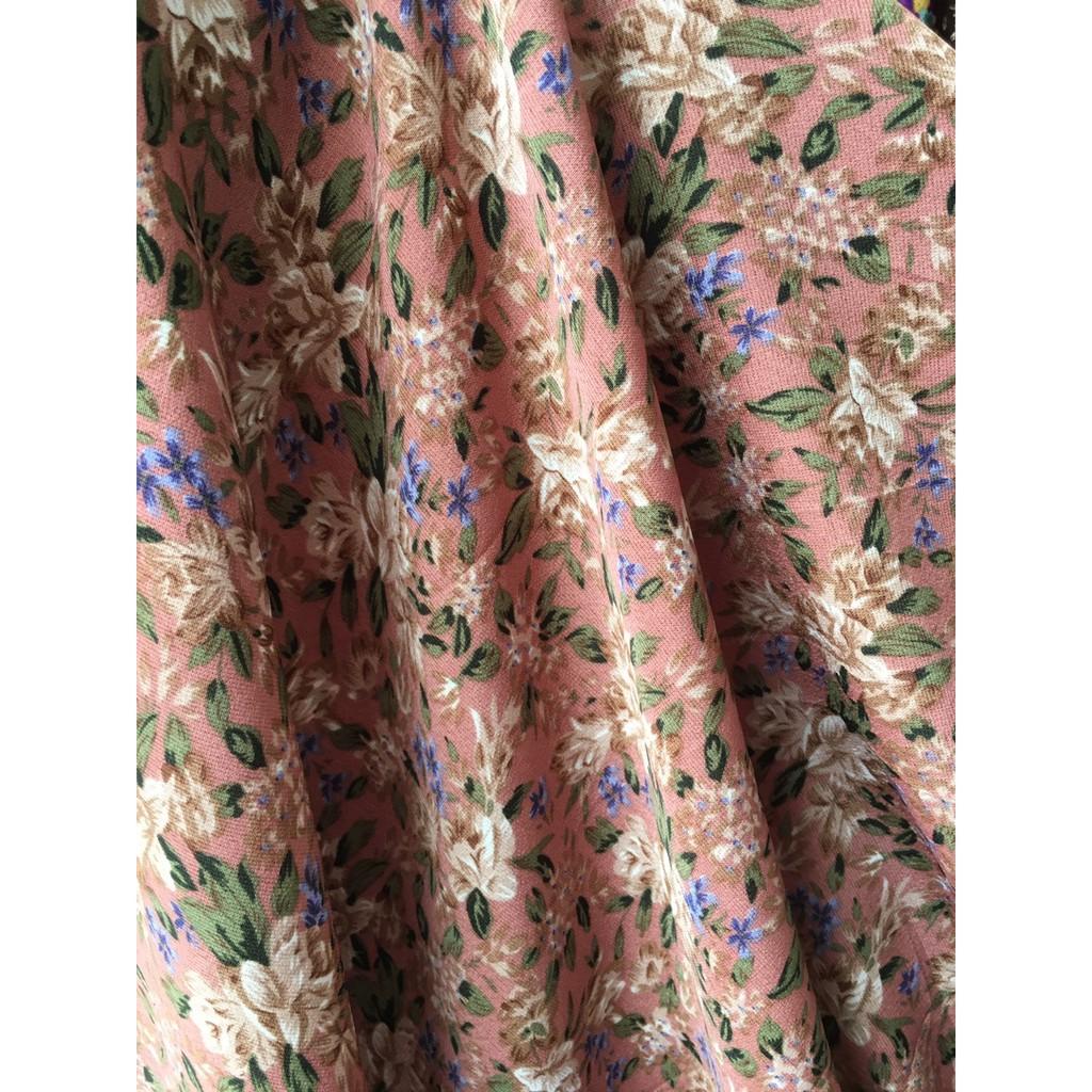 Mặc gì đẹp: Dễ chịu với Váy bầu hoa nhí đẹp 🍅 FREESHIP 🍅 đầm bầu hoa nhí vintage váy bầu thiết kế