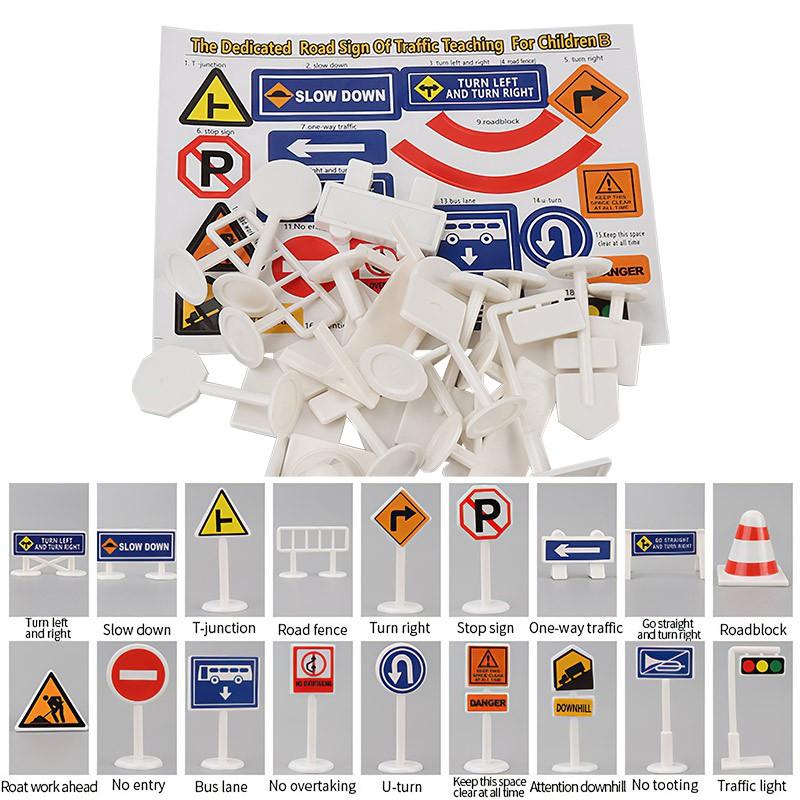 đồ chơi trẻ em Biển Báo Giao Thông Bằng Gỗ Cho Bé 7-14 Tuổi
