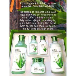 Bộ mỹ phẩm Dưỡng Da Lô Hội FOODAHOLIC Aloe Aqua Skin Care thumbnail