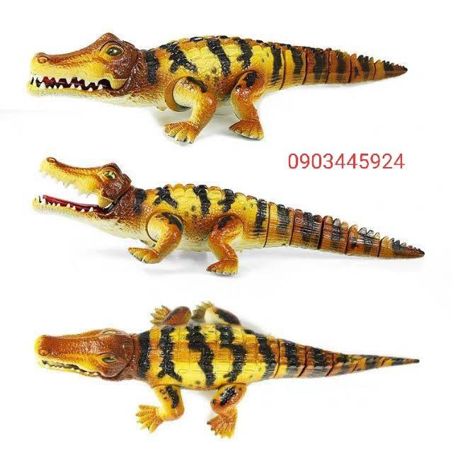 Cá Sấu Chạy Pin Biết Bò, Có Âm Thanh, Phát Sáng ( Có Kèm PIN )