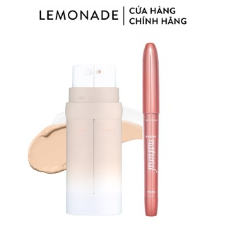 Combo Lemonade Kem nền Perfect Couple Dual Foundation 30g và Bút kẻ mắt SuperNatural Eyeliner 1g