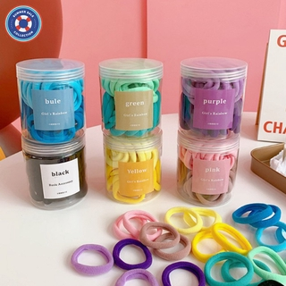 COD 50pcs/bottle Hair Ring Gradient Seamless High Elastic Colorful Rubber Band