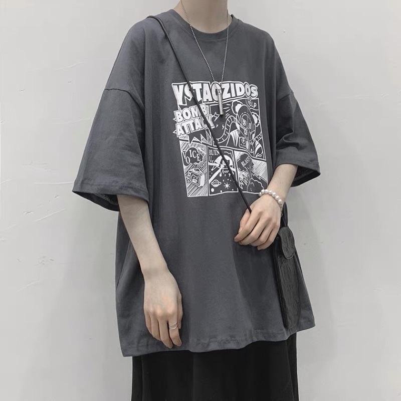 Áo thun tay lỡ nam nữ, áo phông unisex form rộng chất cotton mát mịn thấm hút mồ hôi in hình CỜ