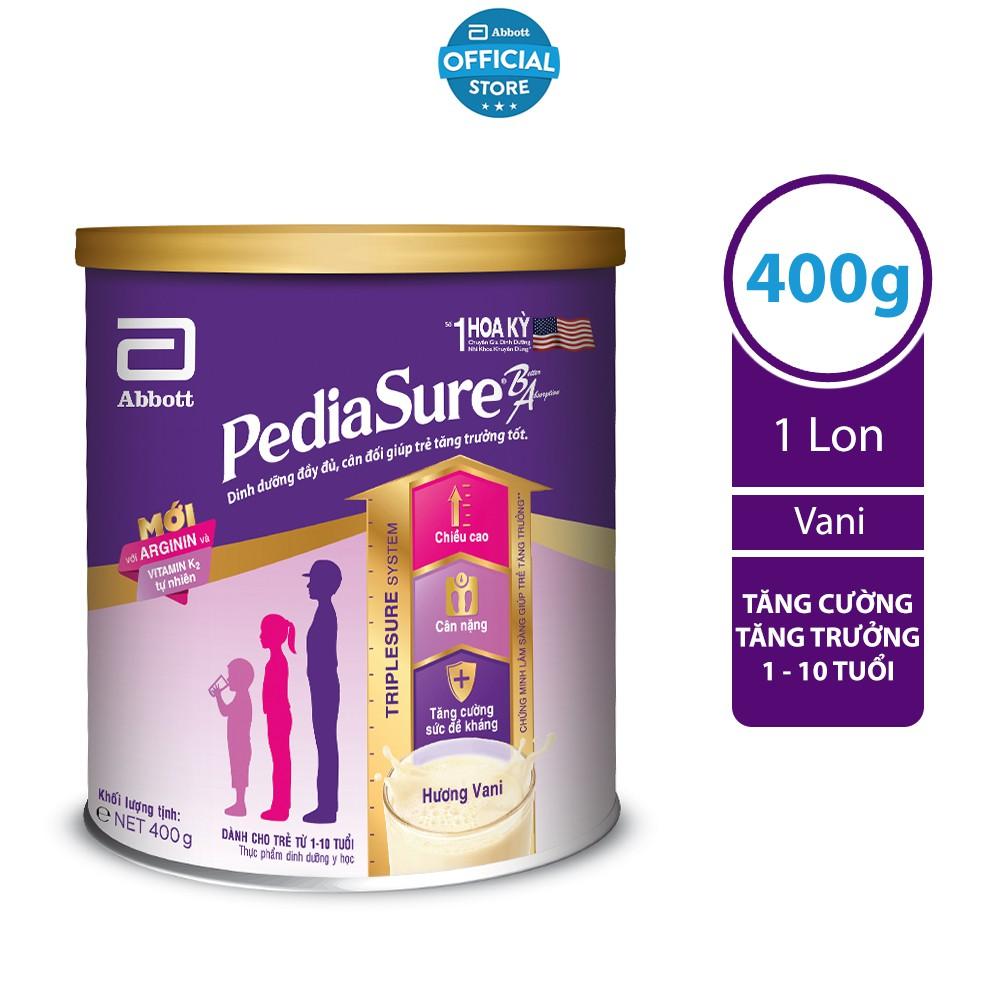-Sữa bột Pediasure 400g hương vani