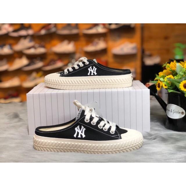 Giày mlb ny đạp gót nữ hàng 1:1 chất lượng ( full box + freeship )
