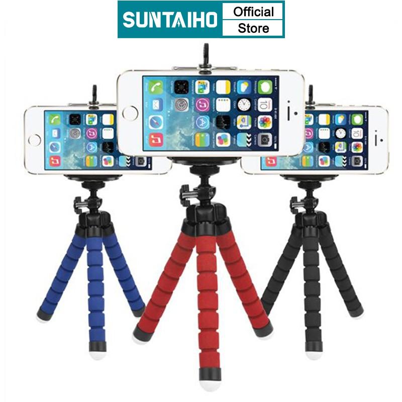 Suntaiho Mini Flexible Sponge Octopus Tripod Phone Stand for iPhone Xiaomi Huawei and Gopro Camera