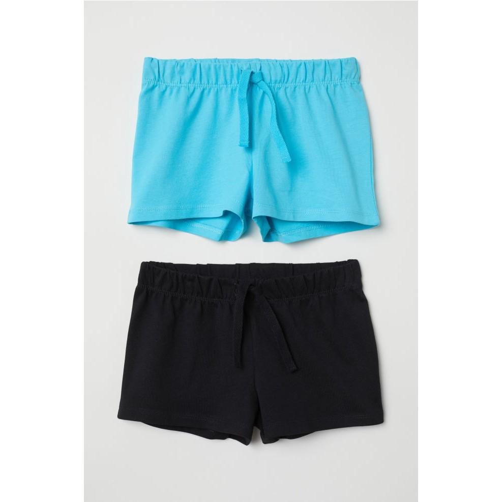 (MBC-UK-Bill) Sét 2 quần đùi bé gái 18 tháng - 3 tuổi HM 2-pack jersey shorts Turquoise