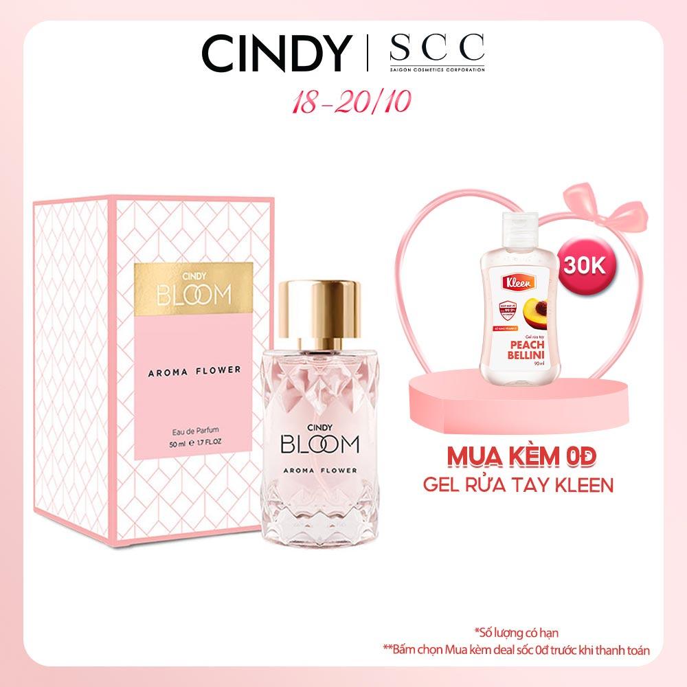 [Mã FMCGMALL giảm 8% đơn từ 250K] Nước hoa Cindy Bloom Aroma Flower 50ml chính hãng