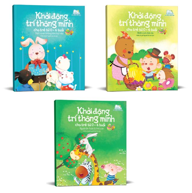 Sách - Khởi động trí thông minh cho trẻ từ 0-6 tuổi (Bộ 3 quyển)
