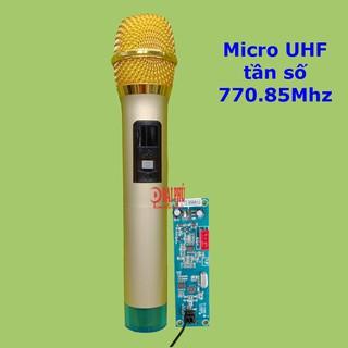 [Mã ELFLASH5 giảm 20K đơn 50K] Micro không dây cho loa kéo tần số UHF 770.85Mhz