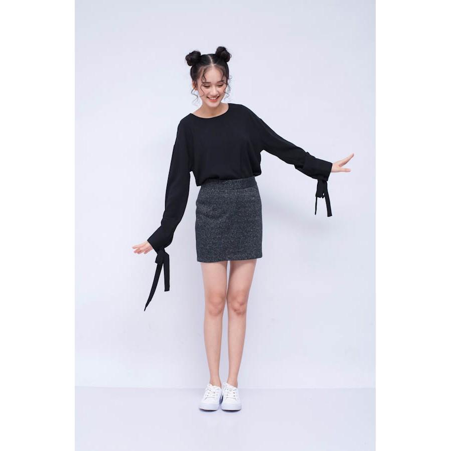 Chân váy INFAMOUS Nữ.Need Basic.Dáng cơ bản.Đen kim tuyến 1.1.25.1.01.003.216.01.10200001