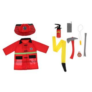 Set 9 trang phục hóa trang lính cứu hỏa ngộ nghĩnh cho bé