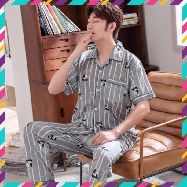 Mặc gì đẹp: Ngủ ngon với [ Hàng oder ] Đồ ngủ pijama nam chất lụa cao cấp [Hàng quảng châu]