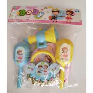 [HÀNG ĐẸP GIÁ TỐT]đồ chơi cho bé – Trọn Bộ Xúc Xắc Lục Lạc Nhựa Cao Cấp Cho Bé SP245