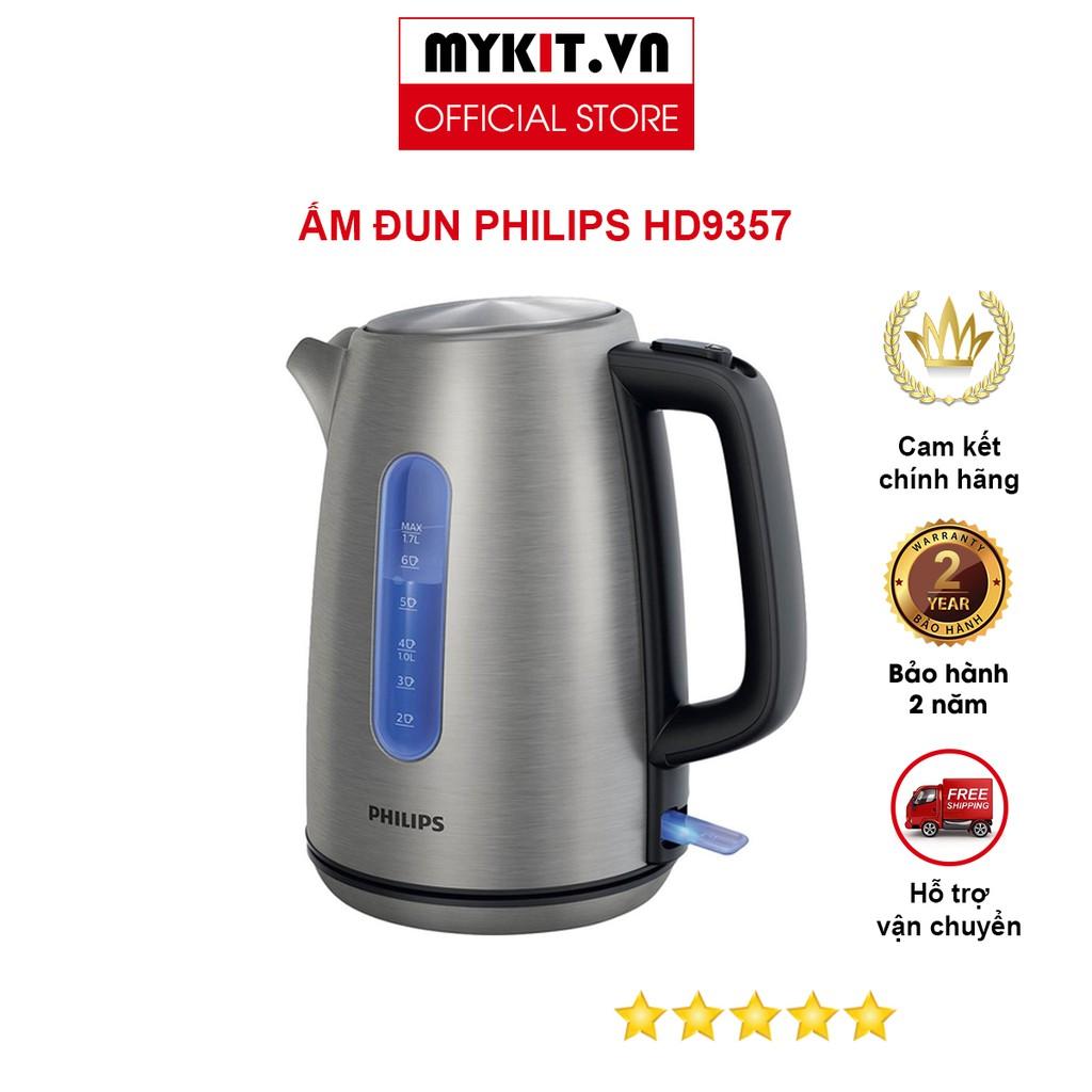Hàng Chính Hãng] Bình Đun Siêu Tốc Philips HD9357 - 1,7L - MYKIT.VN   Nông  Trại Vui Vẻ - Shop