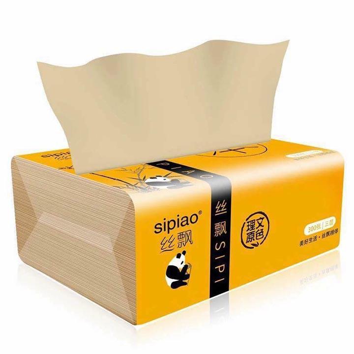 Set 10 gói giấy ăn sợi tre Sipiao siêu dai đa năng
