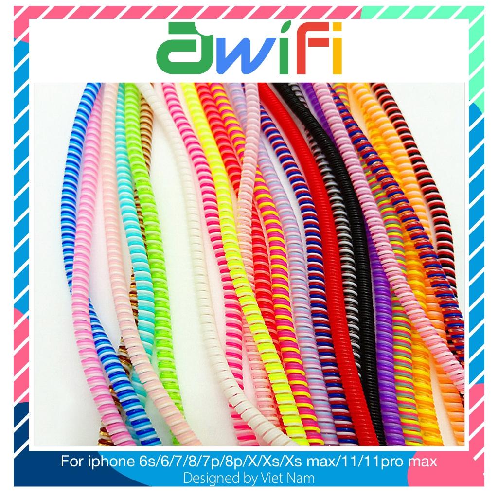 Dây quấn cáp sạc, tai nghe ( dây 3 màu , dài 1.5 mét ) - Awifi Case H2-1