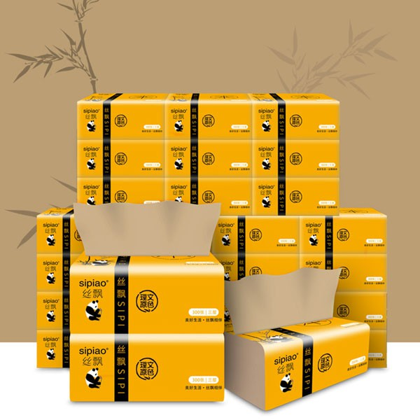Combo 15 gói giấy ăn gấu trúc thiên nhiên