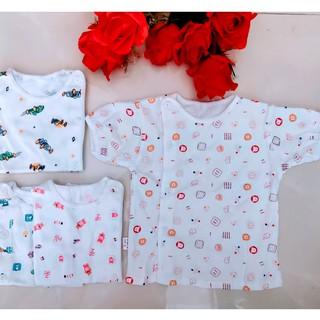 Áo cộc tay sơ sinh Babyborn cotton mềm mại, an toàn làn da nhạy cảm của bé